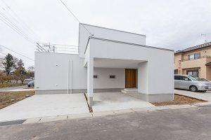 旭町S邸 白ベースの外観 茨城県水戸市宇津建築設計事務所実績例