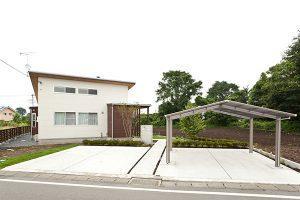 瓜連H邸 平屋外観3 薪ストーブのある家 茨城県水戸市宇津建築設計事務所実績例