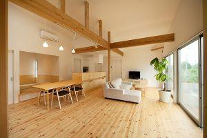 瓜連H邸 リビングダイニング 薪ストーブのある家 茨城県水戸市宇津建築設計事務所実績例